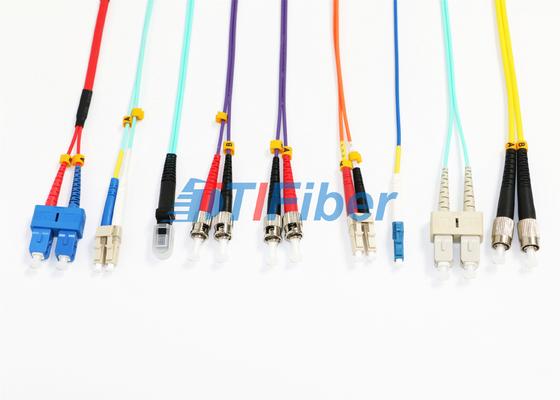 MU MTRJ einzige Modus Patchkabel/Duplex Multimode Glasfaserkabel