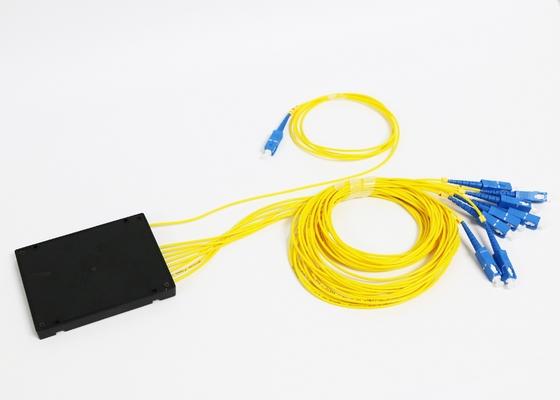 1*8 Glasfaser Plc-Verteiler mit SM FC SC ST LC-Faser-Verbindungsstück