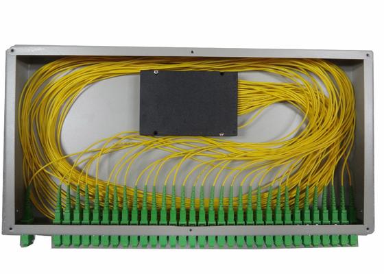 1x16 PLC Glasfaser-Verteiler für Zahnstange-angebrachten Faser-Klemmenkasten