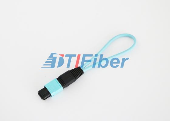 12 Kern Faser-Optikloopback OM3 MPO/MTP mit niedriger Einfügungsdämpfung