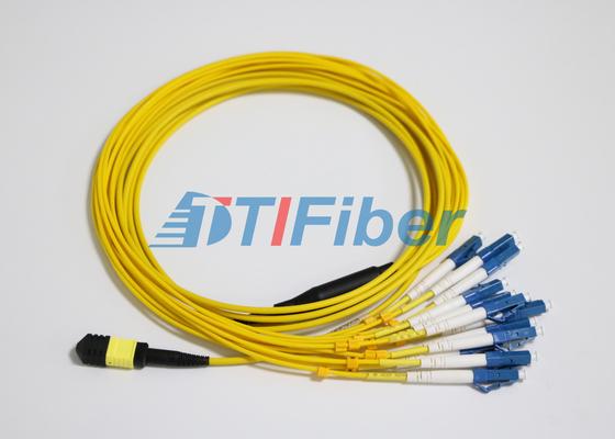 LC SM MTP / MPO Faser Patch Leads mit UPC Glasfaser-Verbindungsstück