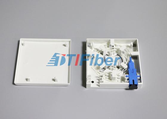 SC / LC-Faser-Adapter Faser-Optik-Spleißbox 2 Hafen-Sockel-Platte